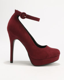 New Look Robust Standard Platform Ankle Red