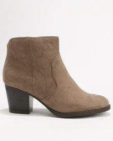 New Look Wide Fit Cowboy Standard Western Boot Brown
