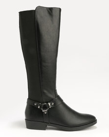 New Look Diandra PU Knee High Black