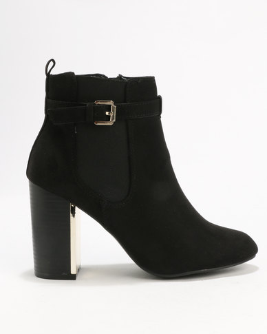 New Look C Bambam Suedette Metal Heel Black