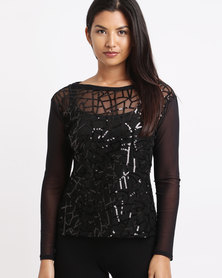Larisa MODA Spider Top Black