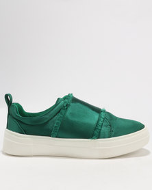 Footwork Izza Slip On Low Cut Sneaker Emerald Green
