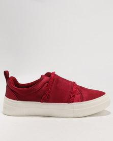 Footwork Izza Slip On Low Cut Sneaker Burgundy