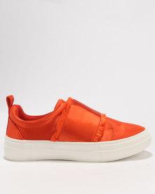 Footwork Izza Slip On Low Cut Sneaker Orange