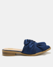 Footwork Ami Slip On Flats Navy