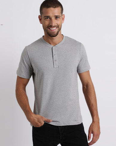 Utopia Basic Henley Tee Grey