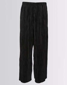 New Look Plisse Trouser Black