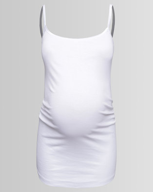 New Look Maternity Strappy Vest White