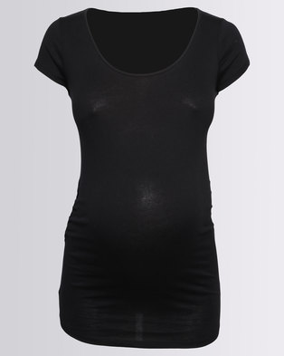New Look Maternity Black Scoop Neck T-shirt Black