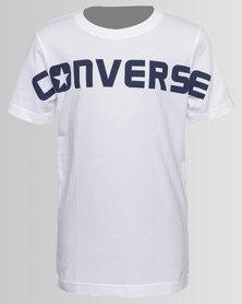 Converse Wordmark Tee White