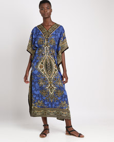 Joy Collectables Long Oriental Kaftan Blue