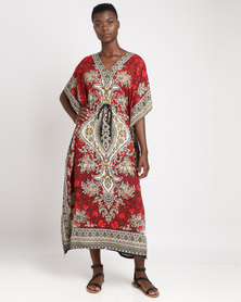 Joy Collectables Long Oriental Kaftan Red
