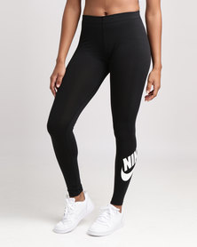 Nike Women's Sportswear Leg A See Logo Leggings Black/White