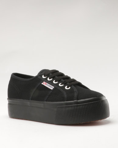 40981e3de62 Superga Canvas Full Wedge Full Black