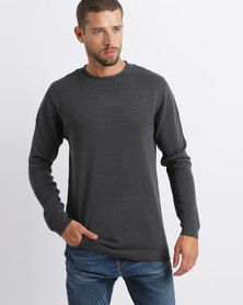 Dissident Nestone Engineered Rib Knitwear Charcoal