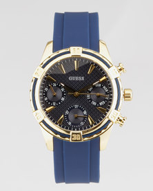 Guess Catalina Round Strap Watch Blue