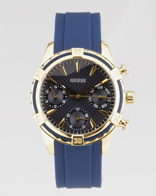 ee9f214a229 Guess Catalina Round Strap Watch Blue