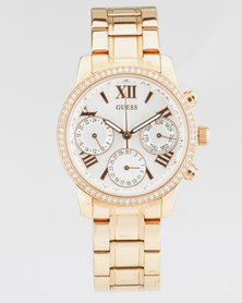 Guess Mini Sunrise Round Watch Rose Gold-Plated