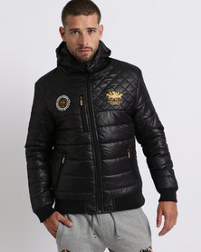 Santa Monica Polo Club Babel Quilted Puffer Jacket Black