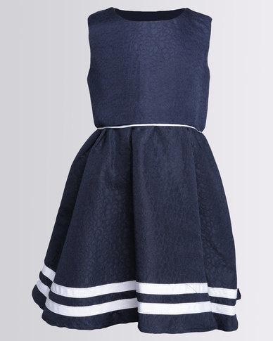 London Hub Fashion Girls Jersey Dress Navy Zando