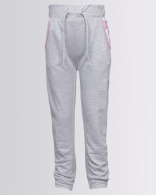 London Hub Fashion Girls Jogger With Pocket Detail Grey
