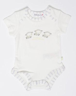 London Hub Fashion Baby 2pk Babygrow Set White 21675de11