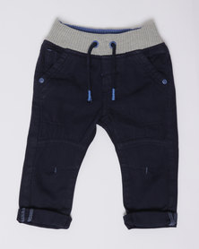 London Hub Fashion Boys Woven Pants Blue