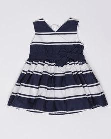 London Hub Fashion Girls Striped Dress