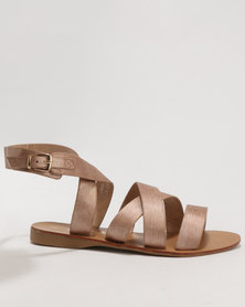 Utopia Authentic Strappy Sandal Rose Gold