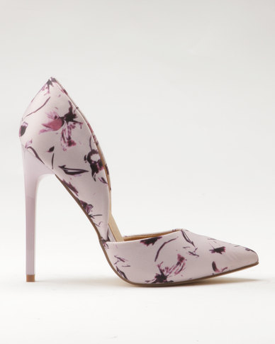 Madison Madison Leah Floral Print High Heels Pink fast delivery for sale low cost 2015 cheap online for nice q4RXYB37o