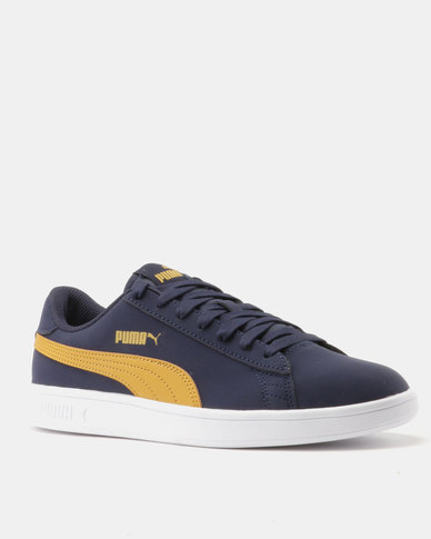 90103fe4c2dc Puma Smash v2 Buck Peacoat-Honey Mustard