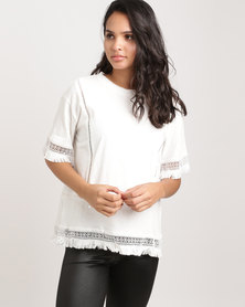 Glamzza Ethnic T-Shirt White