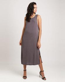 Glamzza Tank Jersey Maxi Dress Grey