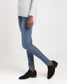 Brave Soul 5 Pocket Jeans Mid Blue Denim