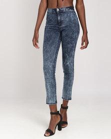Legit Basic Tube Skinny Jeans Stone Wash