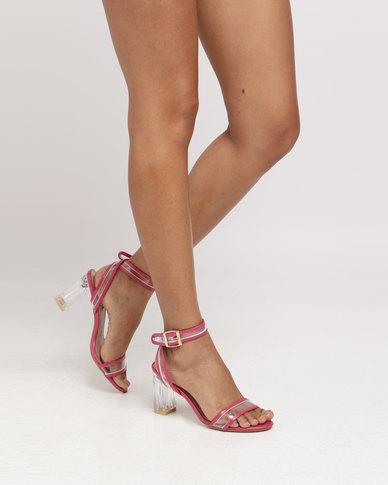 8e63edd1f9b Legit Glass Heel Vinyl Sandal Cerise