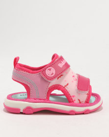 Bubblegummers Girls Sandals Pink