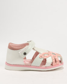 Bubblegummers Girls  Sandals White
