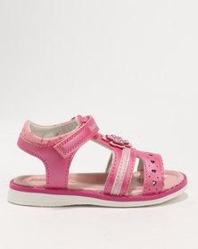 Bubblegummers Girls  Sandals Deep Pink