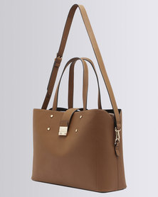 Forever New Eloise Laptop Bag Tan