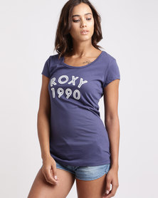 Roxy Please Surf T-Shirt Deep Cobalt