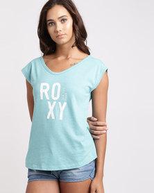 Roxy Mint & Salt T-Shirt Aquarelle Aqua