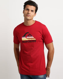 Quiksilver Waves Ahead T-Shirt Red