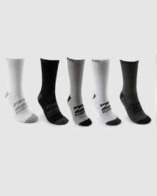 Billabong 5 Pack Sports Socks Multi