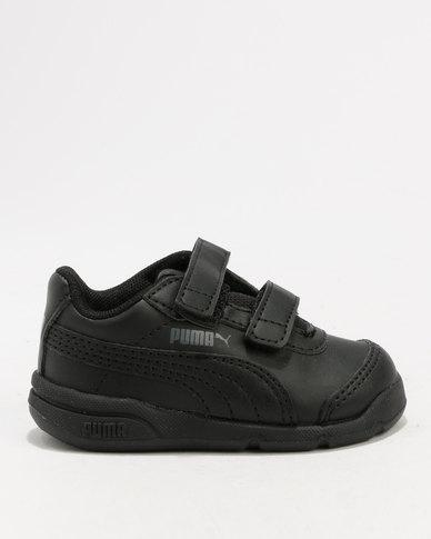 Puma Stepfleex 2 SL Velcro Infant Sneaker Black  0dc7402a0582