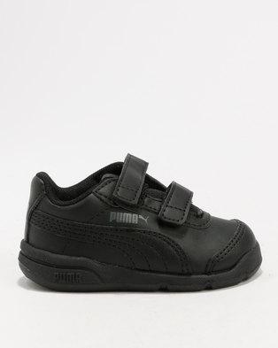 bdb5959b2e16 ... discount puma stepfleex 2 sl velcro infant sneaker black 4a587 bfda7