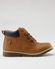 AWOL Boys Casual Sneaker Tan