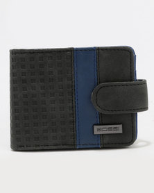 Bossi Pin Punch Wallet Black & Blue