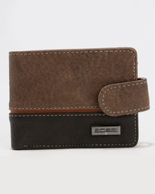 Bossi Colour Blocked Wallet Beige/Brown Combo