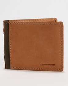Bossi Two Tone Genuine Leather Wallet Tan
